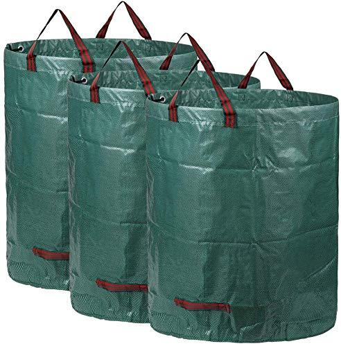 3x 300L Sacchi da giardinaggio PROFESSIONAL - Sacchi per rifiuti da giardino - Polipropilene (PP) - Robusto, Antistrappo, Idrorepellente Riutilizzabile Borsa da Giardino