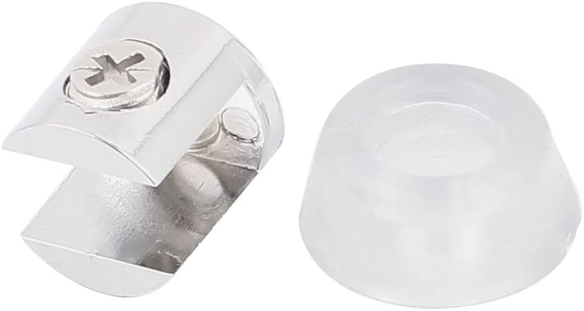 Aexit Round Base Fall National products Protection 8-10mm Clamp Shelf Clip Phoenix Mall H Glass