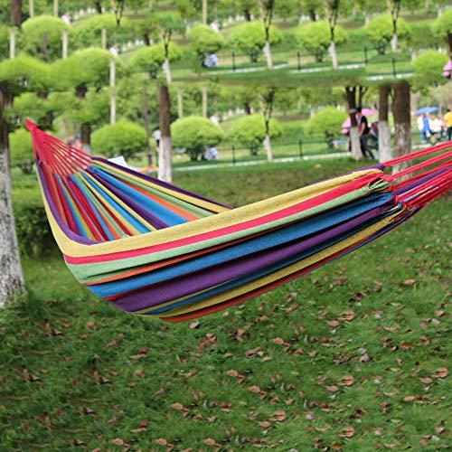 ETH Arco Iris Colorido Al Aire Libre Espesar Lona Simple Hamaca Portátil Camping Barbacoa Vacaciones En La Playa Conducción Autónoma Ocio Creativo (Color : A)