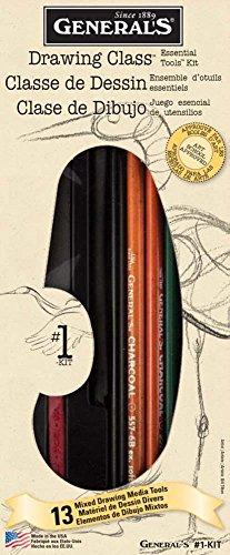 Général Crayon Mixte Média Dessin Classe Essentiel Kit Outils