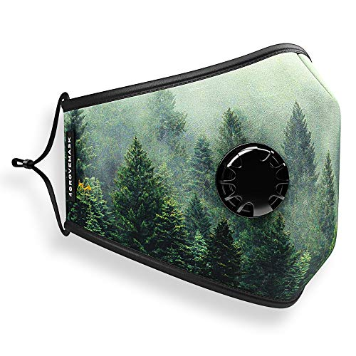 Grove Mask Face Mask w/ 7X PM2.5 Filters - Reusable Cloth Face Mask for Pollen, Smoke, Dust, Allergens - Perfect for Cycling, Running, Training, Motorcycle