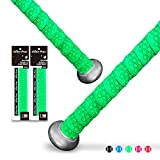Alien Pros Bat Grip Tape for Baseball (2 Grips) – 1.1 mm Precut and Pro Feel Bat Tape – Replacement for Old Baseball bat Grip – Wrap Your Bat for an Epic Home Run (2 Grips, Green)