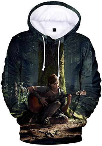 FLYCHEN Uomo Felpa con Cappuccio The Last of Us Parte II 3D Stampato Grafico Realistico Costume...