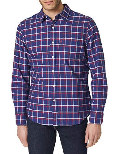 Levi's Classic 1 Pkt Standard Camisa, Nate Navy Peony, XL para Hombre