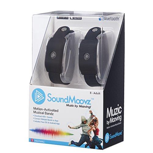 Soundmoovz 41238 Set De 2 Pulseras Muzic Para Crear Y Componer Sonidos Y Música, Negro
