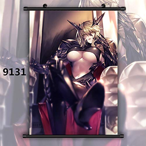 FKnbM Fate Grand Order Saber Lancer Artoria Pendragon Alter Anime Manga Wall Poster Scroll 60x90cm 9131