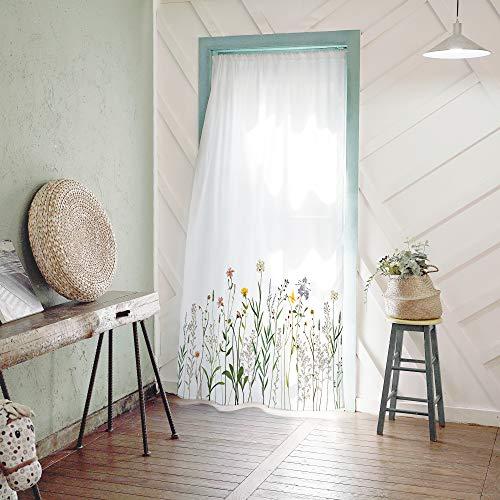 SANGSANGHOO Vintage Wildflower Doorway Curtain 55x79 Country Style Drapes
