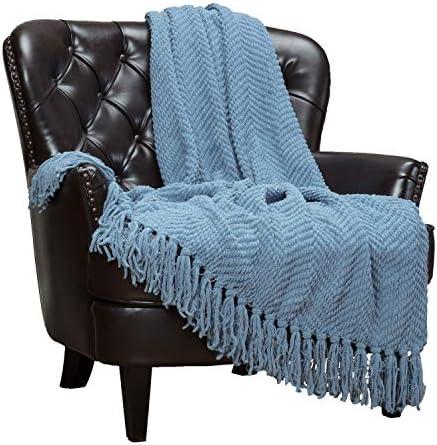 Best Chanasya Textured Knitted Super Soft Throw Blanket With Tassels Cozy Plush Lightweight Fluffy Woven