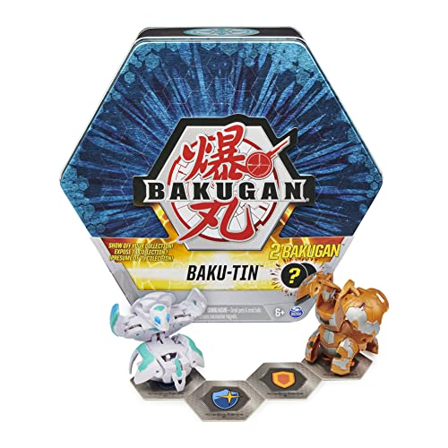 Bakugan Baku-Tin, Premium Collector's Storage Tin with 2 Mystery (Style May Vary), for Kids Aged 6 and up