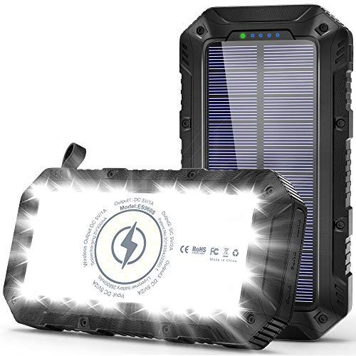 Batterie Externe Solaire, 26800mAh Power Bank...