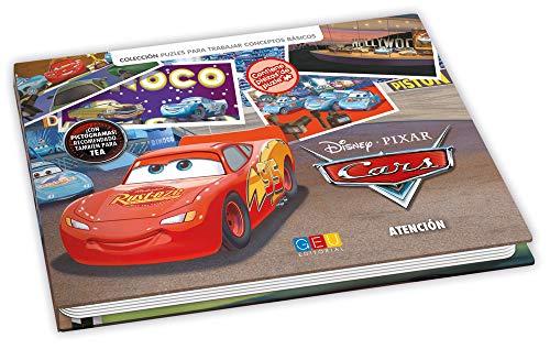 Cars - libro juego para trabajar la atención / Editorial GEU/ A partir de 6 años / Mejora la falta de atención / Trabaja mediante piezas puzle