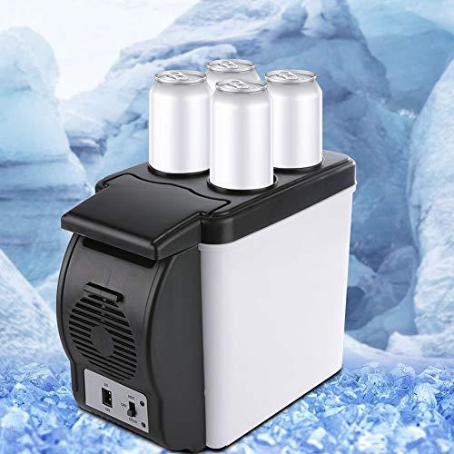 Yivibe 12.2X6.69X10.24Inch Mini Frigorífico, Congelador Portátil ABS, 6L Ahorro de Energía 12V para Coche Camión