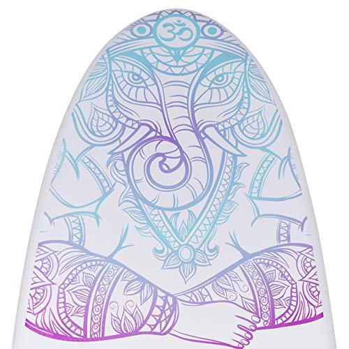 Suprfit SUP Yoga Board I Stand up Paddle Board I Komplettset: Paddelboard, Transporttasche, Paddel, Luftpumpe, Sicherungsleine, Reparaturset I Modell Iwalani: 320 x 85 x 10 cm | max. 120 kg