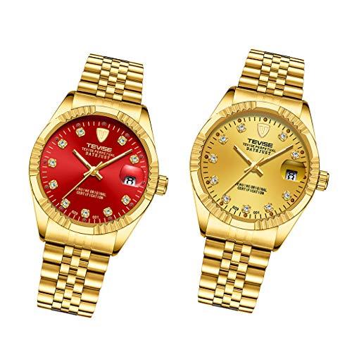 Colcolo 2 Uds, Reloj de Joyería para Hombre, Regalos, Reloj de Pulsera Mecánico Automático de Acero Inoxidable.
