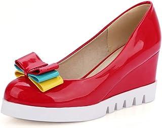 BalaMasa Womens APL12270 Leather Platform Heels
