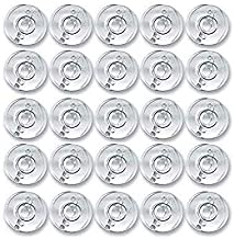 Zenith 24 Plastic Clear Bobbins for Any Domestic Automatic Sewing Machines comaptible with Usha Janome Singer and Brother ...