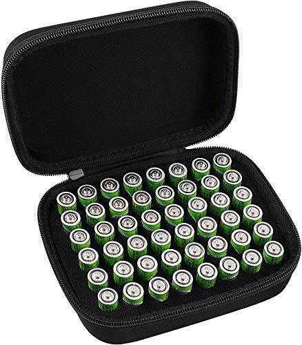 COMECASE Festbatterieveranstalter Aufbewahrungsbox Tragetasche-hält 48 Batterien AA Bulgaria Nicht enthalten Tester und Zubehör.