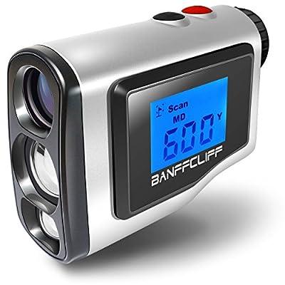 "BanffCliff 1.8"" LCD Screen Display Golf Rangefinder, 656Yard/ 600M Laser Range Finder with Golf Flagpole Lock Fog Mode Distance Correction Water Resistant Laser Distance Measure w/ Carry Case Battery from BanffCliff"