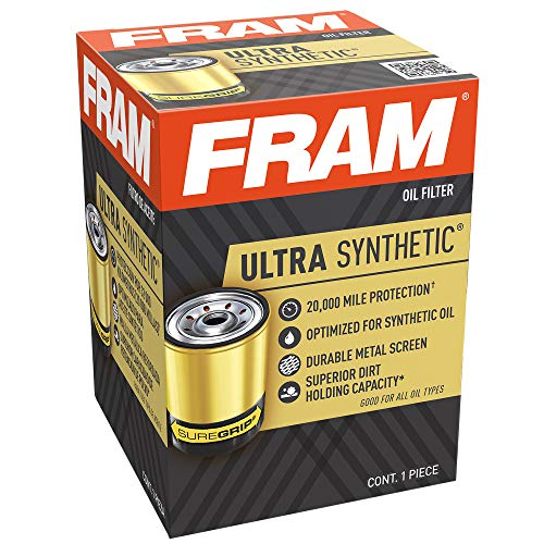 FRAM Ultra Synthetic 20,000 Mile Protection Oil Filter, XG10575 with SureGrip (Pack of 1)