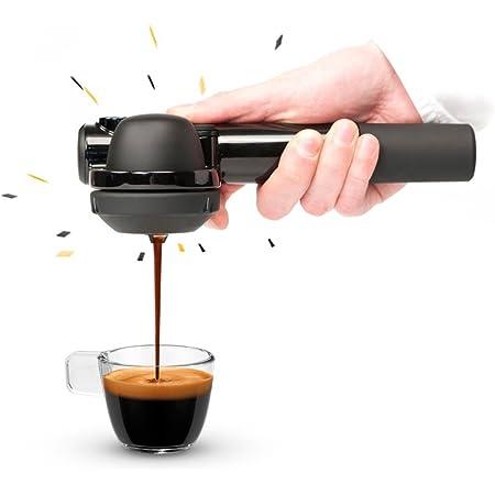 小型エスプレッソマシン Handpresso(ハンドプレッソ)ハイブリッド - カフェポッド・コーヒー粉抽出可能 電気不要 - アウトドア・オフィス