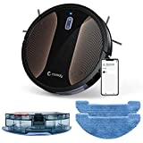 Coredy Robot Vacuum Cleaner, 3-in-1 Vacuuming Sweeping and Mopping, Wi-Fi, App Controls, 2000pa Strong Suction,Virtual Boundary Supported, Slim, Quiet Robotic Cleaner Cleans Hard Floor to Carpet