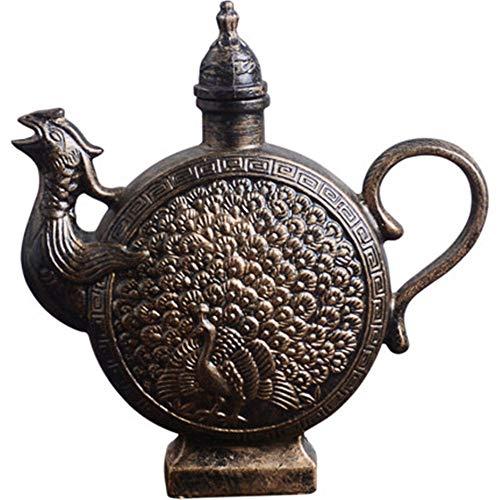 LLDKA Creative Cinese antichità antichità caraffa in ceramica piccola casa bottiglia vuota di liquore 1 kg di barattoli caricati,1