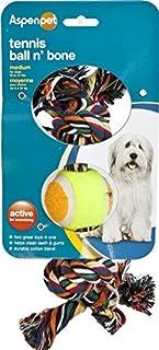 Aspen Pet Products Tennis Ball N Bone Toy, Medium