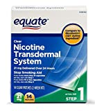 Equate - Nicotine Transdermal System Step 1 - Clear Patches - Quit Smoking Aids - Smoking Cessation Products - Nicotine Replacement Products - First Step Vice Breaker Supplement - 21 mg - 14 Count