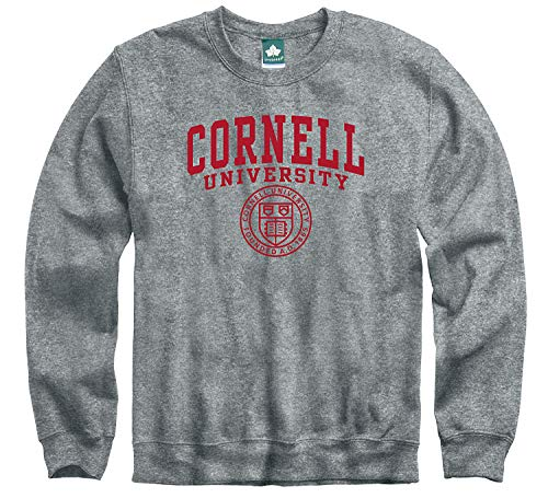 Ivysport Cornell University Big Red Crewneck Sweatshirt, Heritage, Charcoal Grey, Small