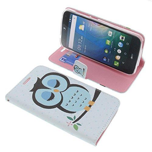 foto-kontor Tasche für Acer Liquid Z630 Liquid Z630S Liquid M630 Book Style Eule blau Schutz Hülle Buch