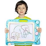 Automoness Grande Lavagna Magnetica per Bambini, Lavagnetta Magica Portatile Cancellabile con 3 Francobolli e 1 Penna, Regalo per Bambini 3 4 5 Anni