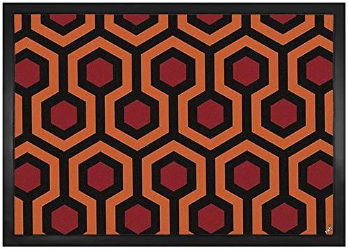 1art1 Muster - Retro Shining Teppich Muster Fußmatte Innenbereich und Außenbereich | Design Türmatte 70 x 50 cm