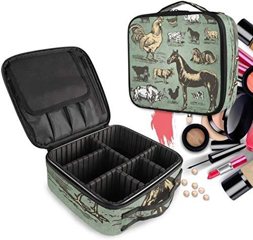 HZYDD Cosmeticatasje, paard koe eend art make-up toilettas met ritssluiting, make-uptas, organizer voor vrouwen en meisjes gratis vak