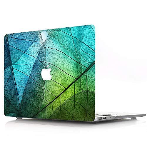 AQYLQ MacBook Schutzhülle/Hard Case Cover Laptop Hülle [Für MacBook Pro 13 Zoll – mit CD-Laufwerk: A1278] - Ultradünne Matt Plastik Gummierte Hartschale Tasche Schutzhülle, ZW-7 Grünes Blatt