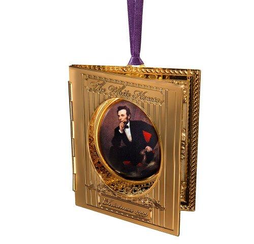 1999 White House Christmas Ornament, President Abraham Lincolns Portrait