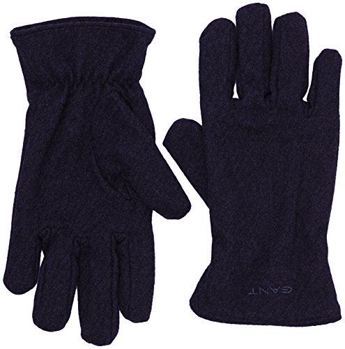 GANT Herren O. MELTON GLOVES Handschuhe, Blau (Navy 405), Large (Herstellergröße: L-XL)