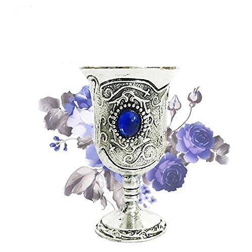 Tong Gu Cáliz del tarot representativo del elemento agua, copa para altar Wicca, artículos paganos para la adivinación, estilo clásico, Azul