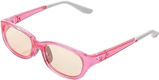 【2015年モデル】ELECOM ブルーライトカット眼鏡 キッズ用 ブラウンレンズ 低学年向 ピンク G-BUB-W02SPN