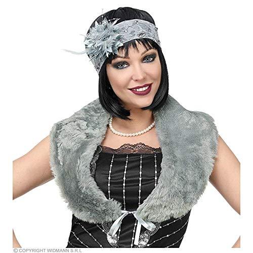 Lively Moments - Costume di Carnevale, Soggetto: Stola Grigia con Fascia per Capelli e Fiore, Anni '20