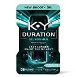 Duration Gel for Men, K-Y Male Genital Desensitizer Numbing Gel to Last Longer, 0.16 fl oz, 36 Pumps, Made with Benzocaine to Help Men Last Longer in Bed