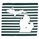 TWIG & BALE Michigan State Spartans Baby Blanket Organic Cotton Muslin Swaddle Blanket - 47' x 43' - Fans of Michigan State Baby Gift for Boys Girls Newborn Receiving MSU Blankets