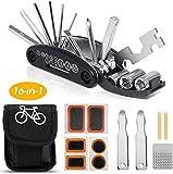 GJWHENS Kit de Herramientas para Bicicletas, Kit de Herramientas para reparación de Bicicletas, Accesorios para Bicicletas de montaña, Herramienta multifunción para Bicicletas 16 en 1,B