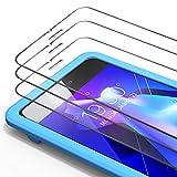 Bewahly Cristal Templado para iPhone 6 / 6s [3 Piezas], Ultra Fino Protector Pantalla con Marco de Instalación Fácil, 9H Dureza Alta Definicion Vidrio Templado para iPhone 6 / 6s (Transparente)