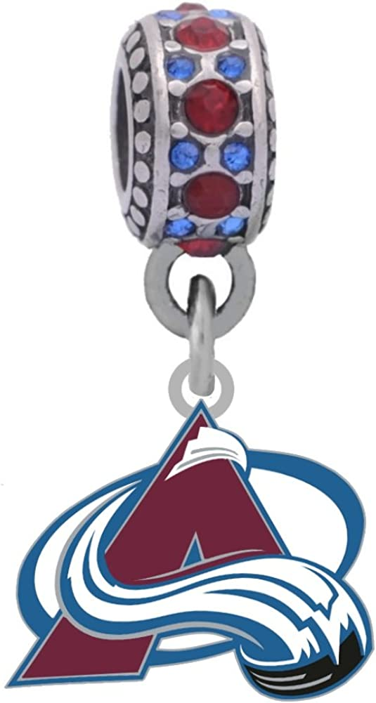 Colorado Avalanche Max 78% OFF Charm Fits Compatible Style Pandora Brac 2021 spring and summer new With