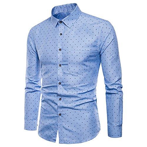 Geili Herren Langarm Hemd Workwear Slim Fit T Shirt Mode Umlegekragen Knöpfen Brusttasche Langarmshirt Große Größen Businesshemd Freizeithemden Bluse Tops
