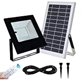 Solar Flood Lights Outdoor&Indoor 120Leds 1000Lumen Rechargeable Solar Powered Led Security Light IP65 Waterproof Auto On/Off for Garden,Landscape,Yard,Porch,Patio,Garage,Pool,Sign,Billboard