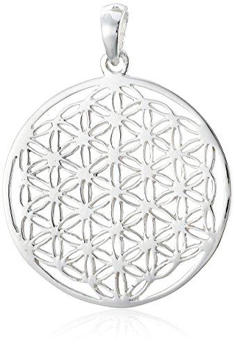 Vinani Anhänger Lebensblume Blume des Lebens Mandala klein Sterling Silber 925 ALB-EZ