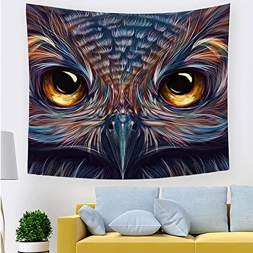 Tapiz de animales colorido búho tapiz colgante de pared dormitorio familiar sala de estar dormitorio apartamento oficina decoración A40 180x200cm