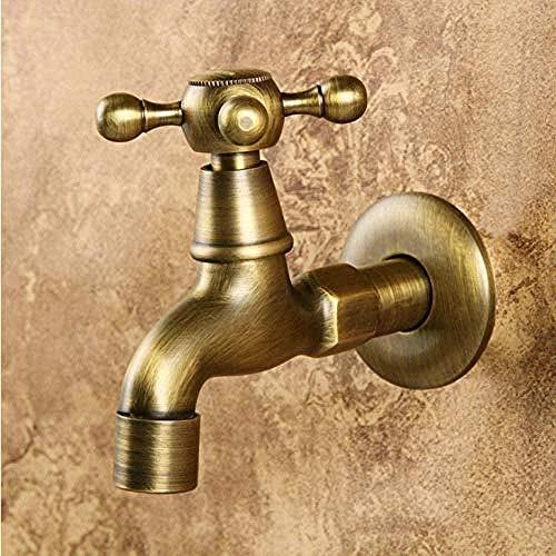 Kraankraan oude vintage antieke messing extra lange badkamer muur montage wasmachine tuin tik