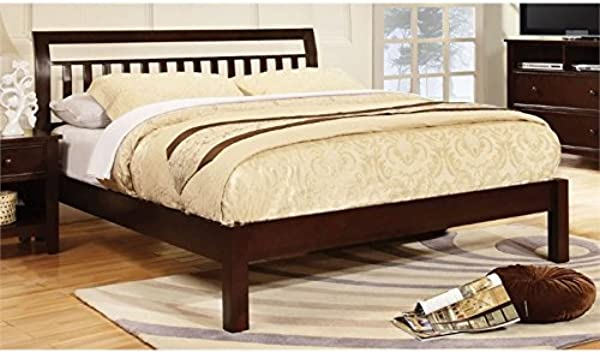 Furniture Of America Elena Full Slat Bed In Dark Walnut